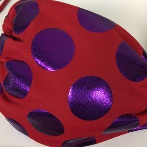 Victoria's Secret Swim - Victoria's Secret Red & Purple Polka Dot Bikini